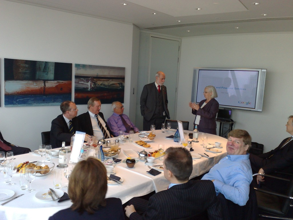 Gherkin Meeting with Vint Cerf